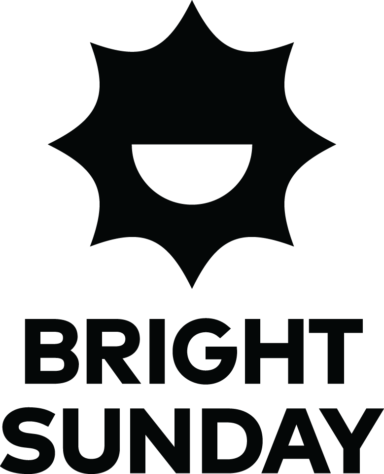 Bright Sunday, logo, bw