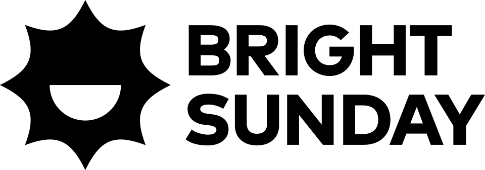 Bright Sunday, logo, black, horizontal