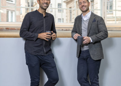 Sorosh Tavakoli, investor, and Niklas Engström, CEO of Bright Sunday